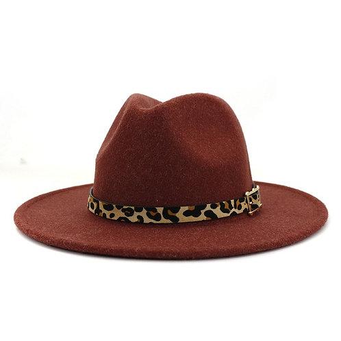 Wine Leopard Hat