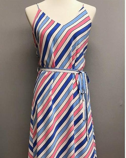 Stripe Tie Waist Dress