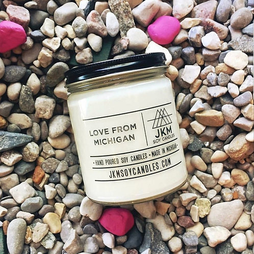 Love From Michigan Soy Candle