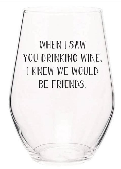 Friends Wine Glass