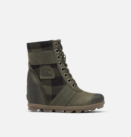 Sorel Lexi Wedge Plaid Boots