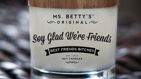Soy Glad We're Friends! Candle
