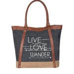 Live Love Wander Re-Cycled Tote