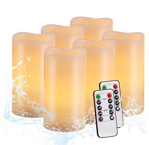 LED Flameless Pillar Candles (6)