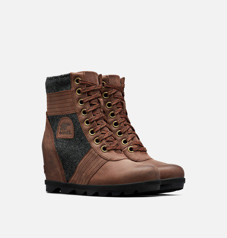 Sorel Lexi Wedge Boot Tobacco Brown