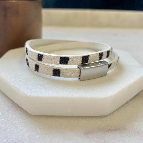 Zebra Wrap Bracelet