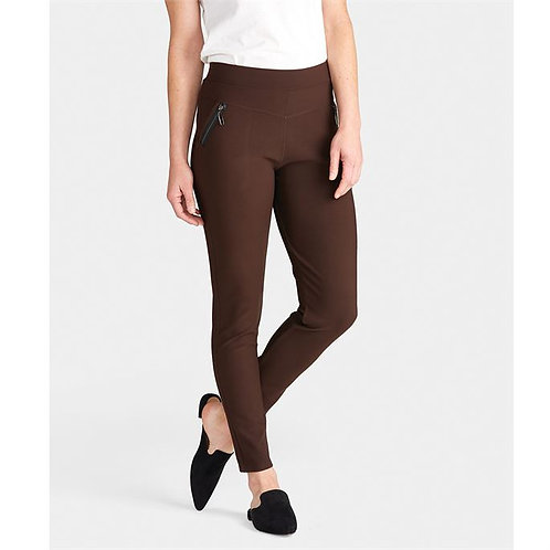 Jasmine Brown Zip Pocket Leggings