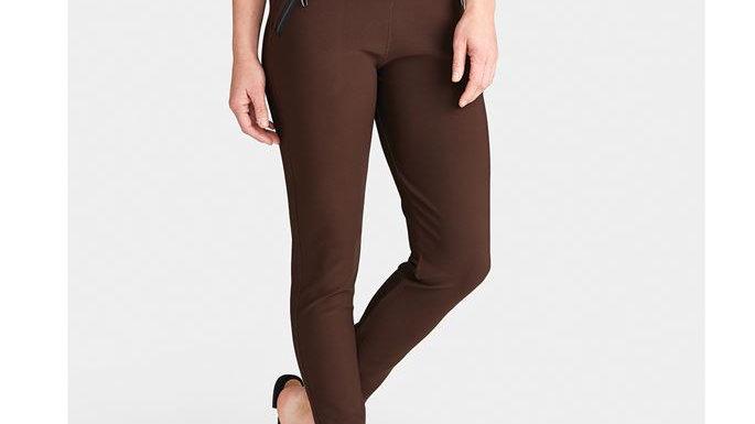 Jasmine Brown Zip Pocket Leggings