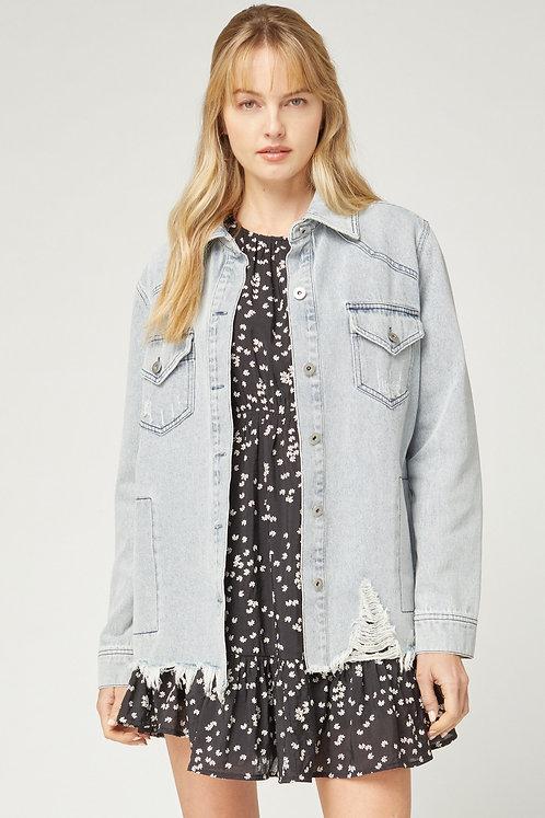 Lightwash Distressed Denim Jacket