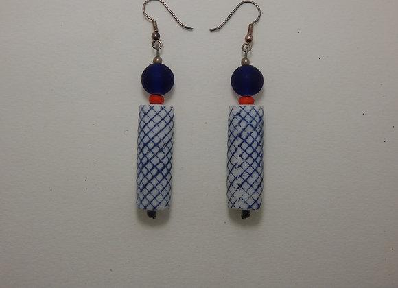 Earring, Single - Blue Light