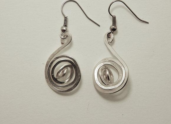 Earring - Silver Spiral