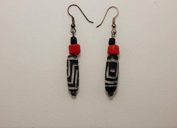 Earring - Red Zebra