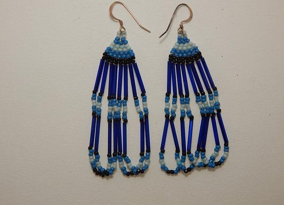 Earring - Beaded Prayer Blue