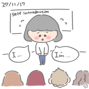27/11/17 Too shy is not good for self introduction.
