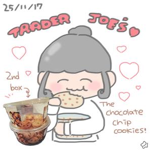 25/11/17 Trader Joe's chocolate chip cookies🍪❤️