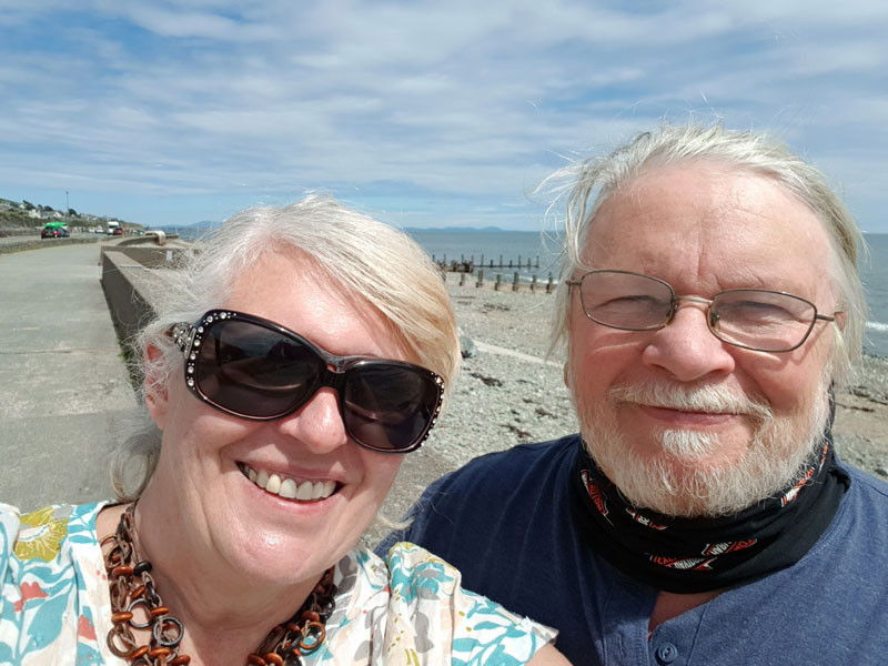Ray + Sue Steadman at Barmouth