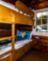 Caban Eryri has full sized single bed, bunk beds which will sleep ad