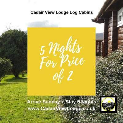 mid week special offer log cabin Snowdon