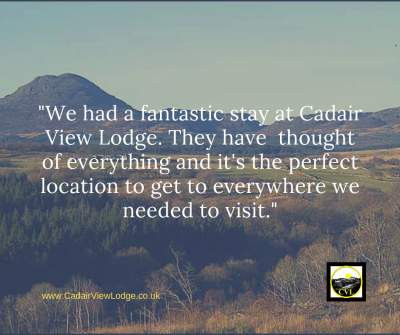 We had a fantastic stay at Cadair View Lodge. Sue had thought of everything and the park was in the perfect location for us to get to everywhere we needed to visit.