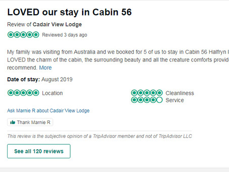 Loved Our Stay In Cabin 56 (Haulfryn)