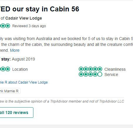 Loved Our Stay In Cabin 56 (Haulfryn)