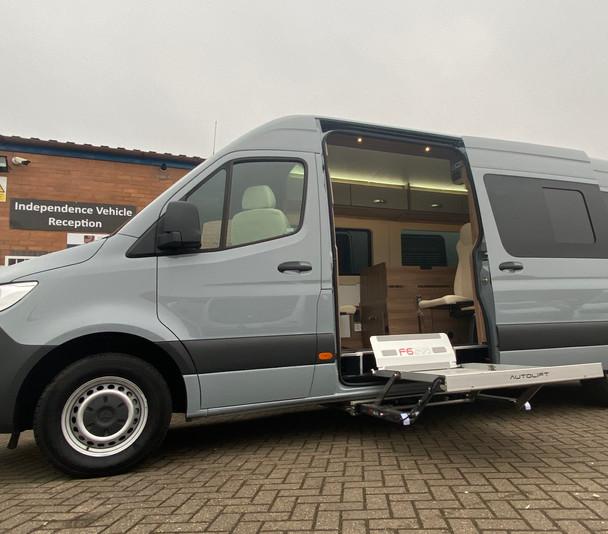 LIV. Mercedes Sprinter XLWB H3 wheelchair accessible panel van conversion