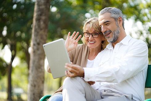 Happy senior elderly couple lifestyle te