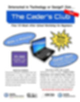 Coders Club at Garfield TLC Slide Flyer