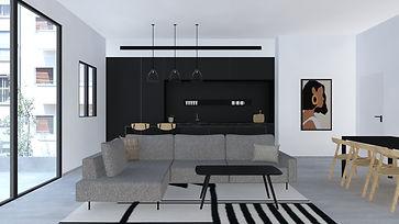 סימפל סטודיו, תכנון ועיצוב פנים, עיצוב מודרני נורדי, מטבח שחור