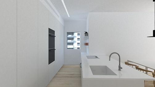 סימפל סטודיו, תכנון ועיצוב פנים, עיצוב מטבח לבן