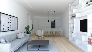 סימפל סטודיו, תכנון ועיצוב פנים, הדירה הלבנה, עיצוב נורדי
