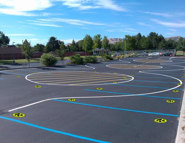 School yard playground social distance.j