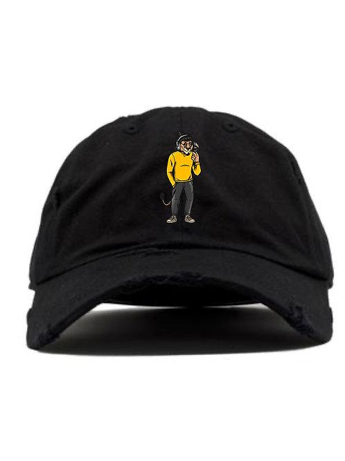 DISTRESSED DAD HAT - LION