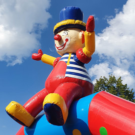 clown huepfburg mieten leihen zwickau