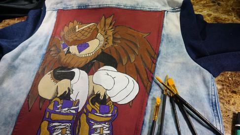 Custom Denim Jacket - The Watcher