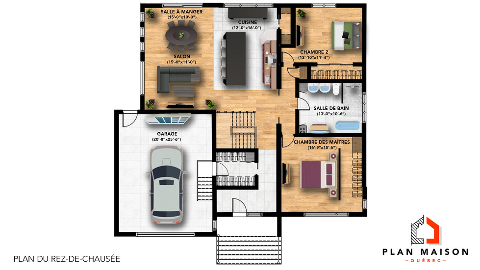 maison contemporaine avec garage
