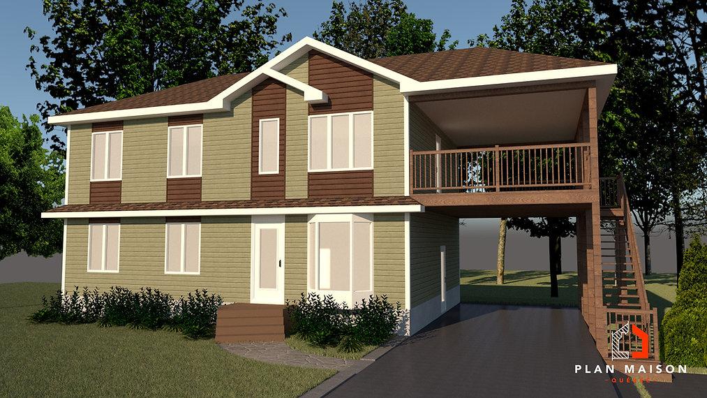 plan maison rectangulaire