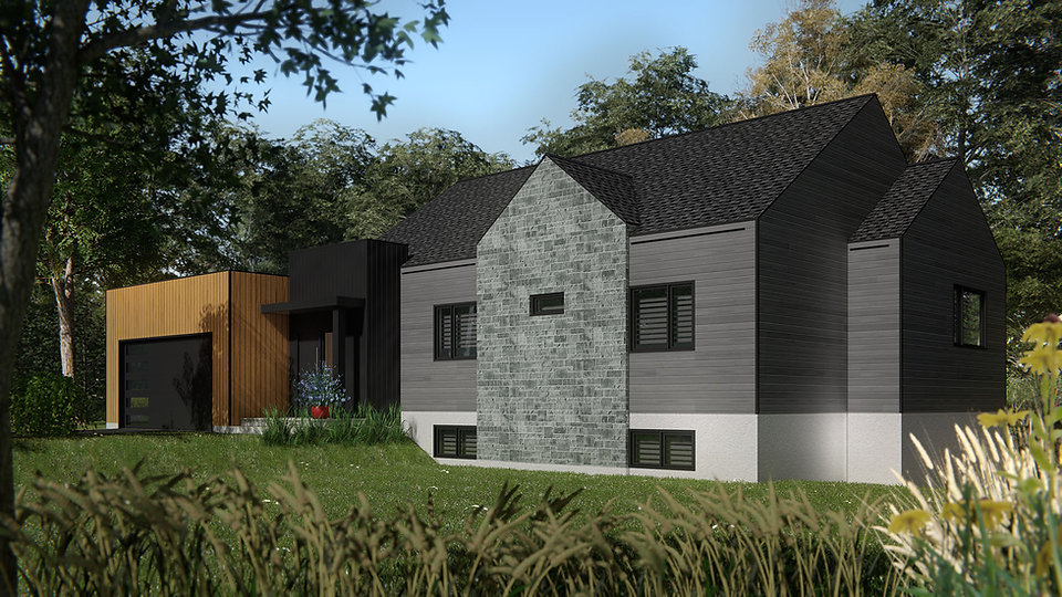 plan maison avec garage levis