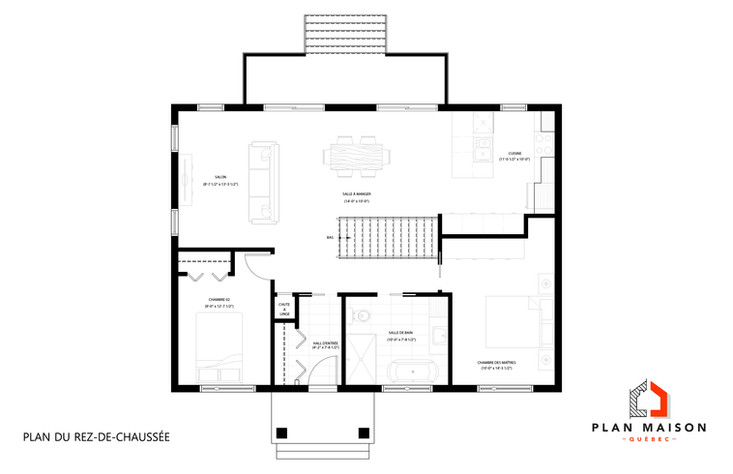 maison contemporaine plan
