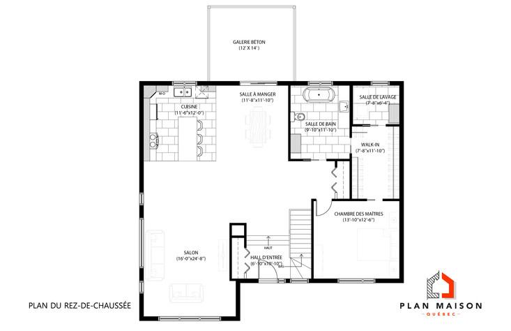 plan maison neuve contemporaine