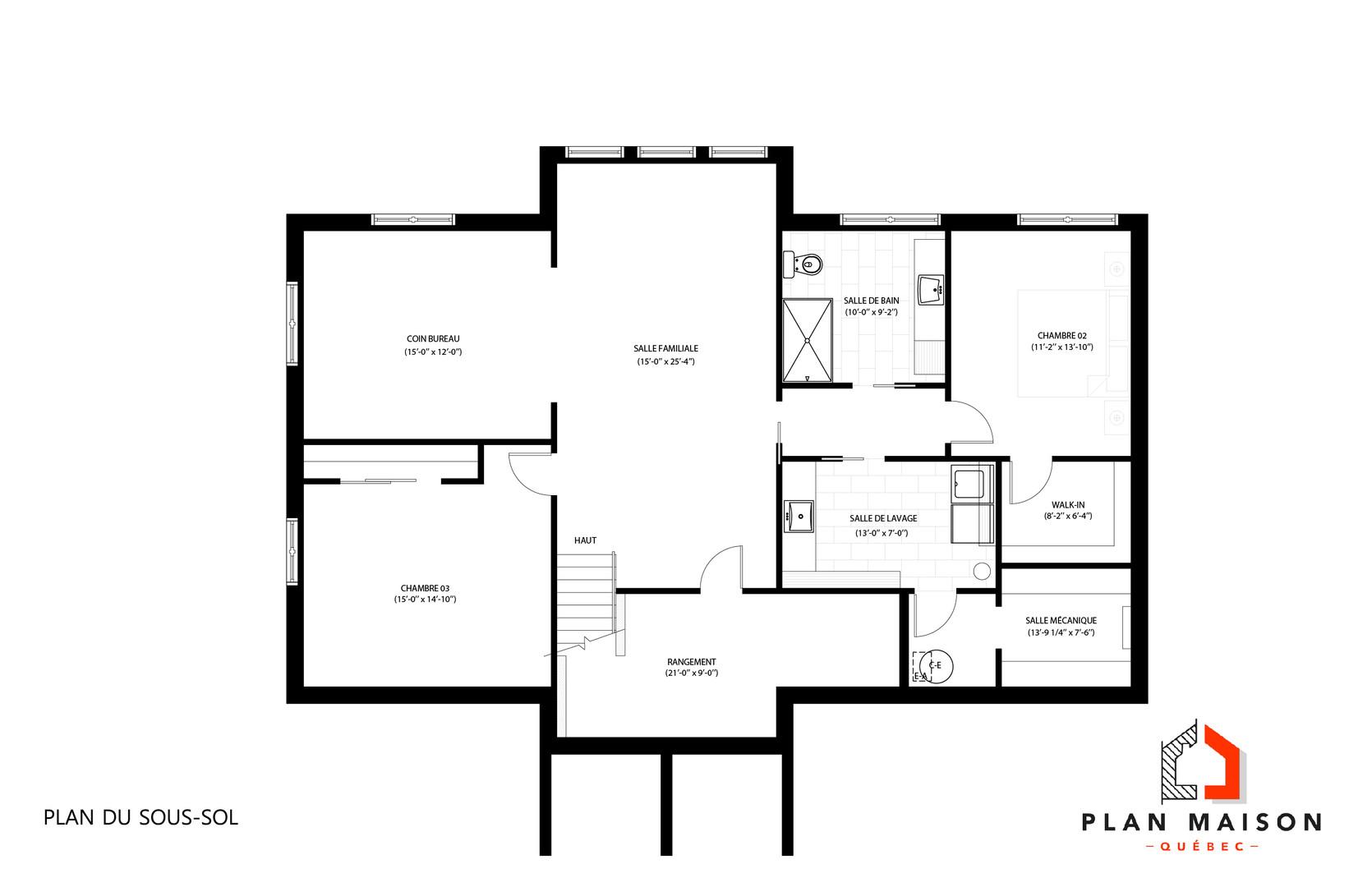 plan maison un etage
