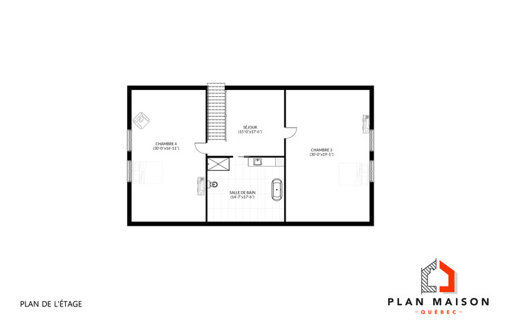plan de maison garage double