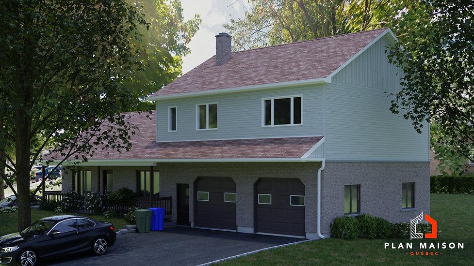 plan de maison 2 etages laval