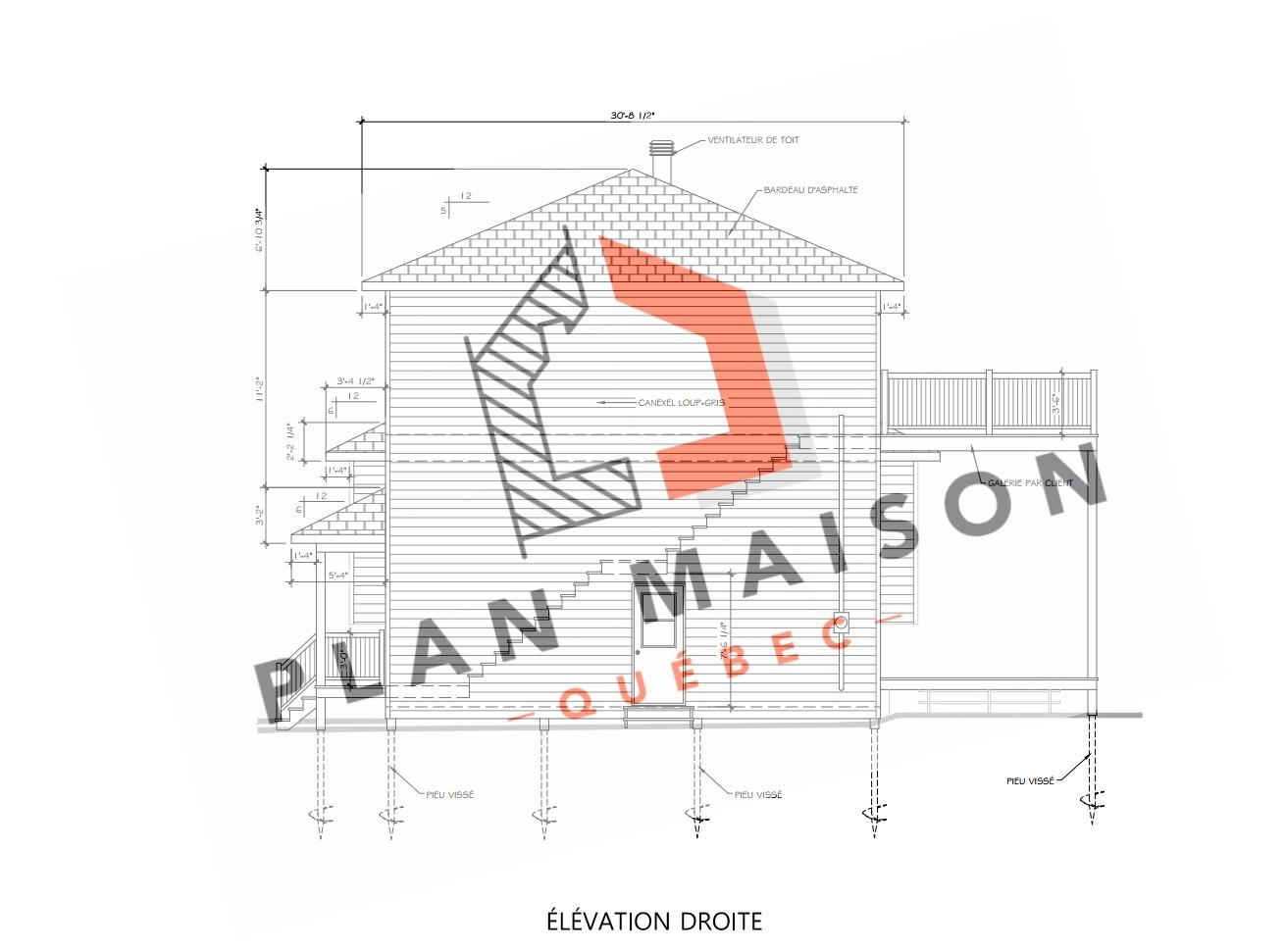 plan maison 2 etage montreal