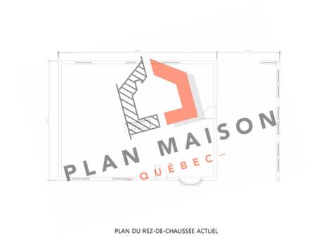 plan de maison rectangulaire