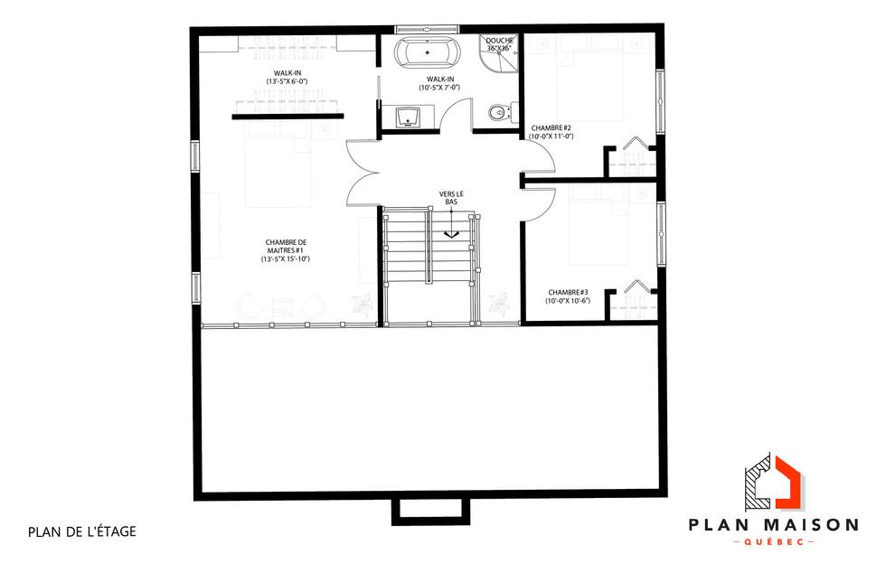 plan maison bungalow