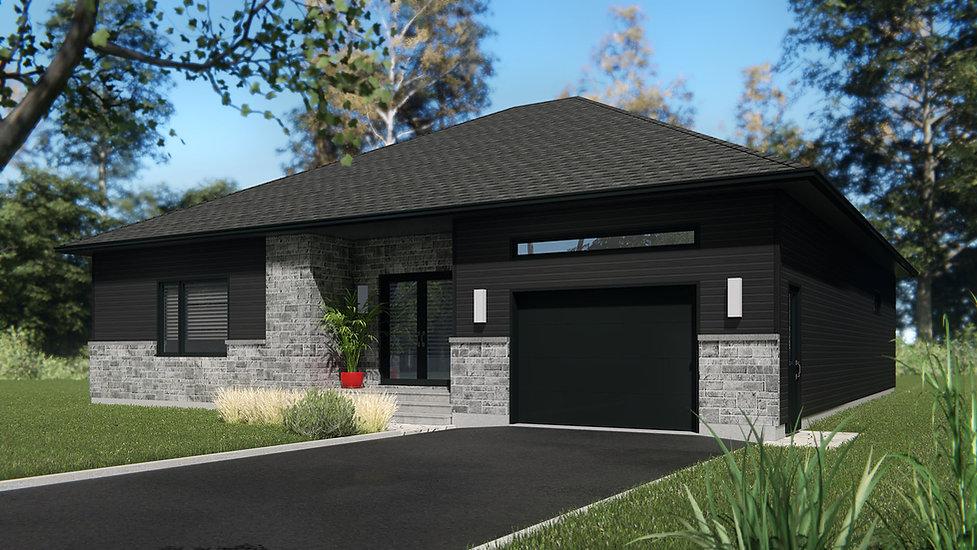 plan de maison avec garage terrebonne
