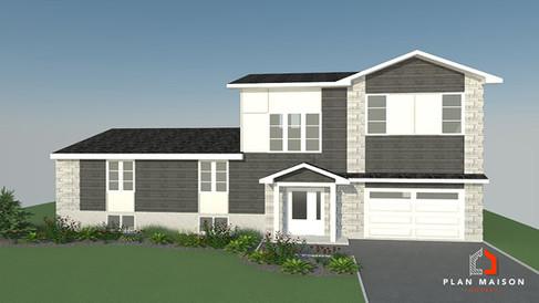 maison 2 etage avec garage quebec