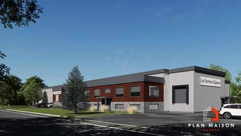 Plan Maison Québec est une grande équipe de technologues professionnels ainsi que d'artistes en plan de maison 3D, basée à Québec. Spécialisée dans la conception de plan de maison et de rénovation, nous fournissons, à nos clients de Québec et ses alentours, des plans en 3D. Le client suivant a ainsi bénéficié de notre professionnalisme lors de la réalisation d'un plan 3D de son usine.