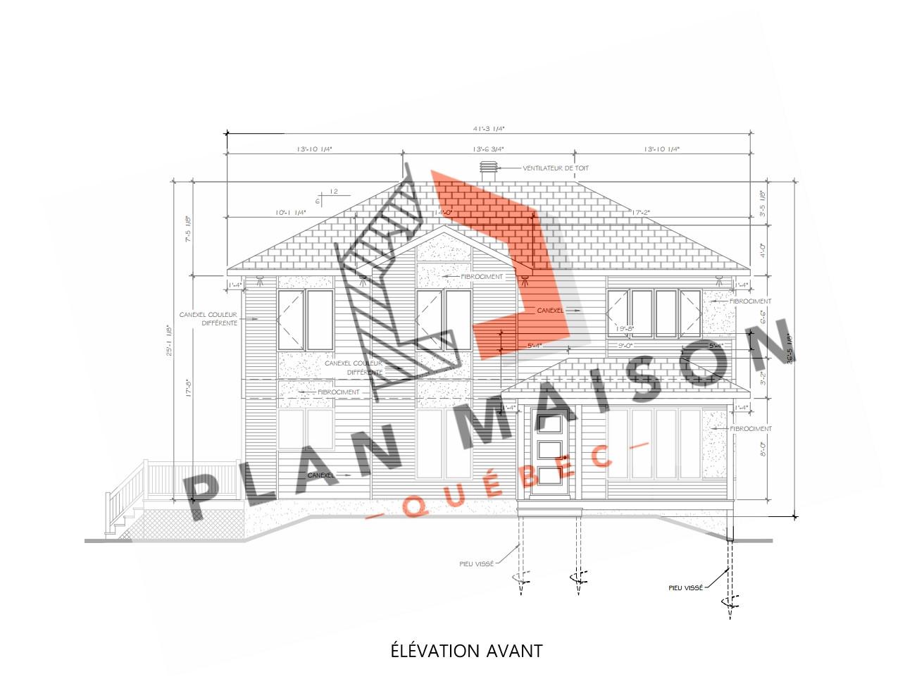 plan maison 2 etage quebec